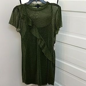 NWT Party/ Cocktail/glittery Dress Size S Green